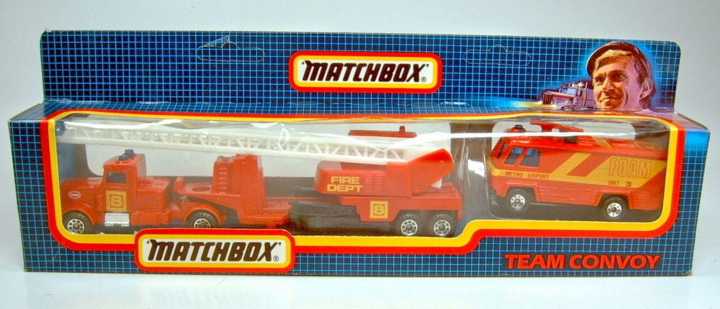 1988 Matchbox Team Convoy TC-1 Fire Set, picture from ebay. Thanks to original contributor!