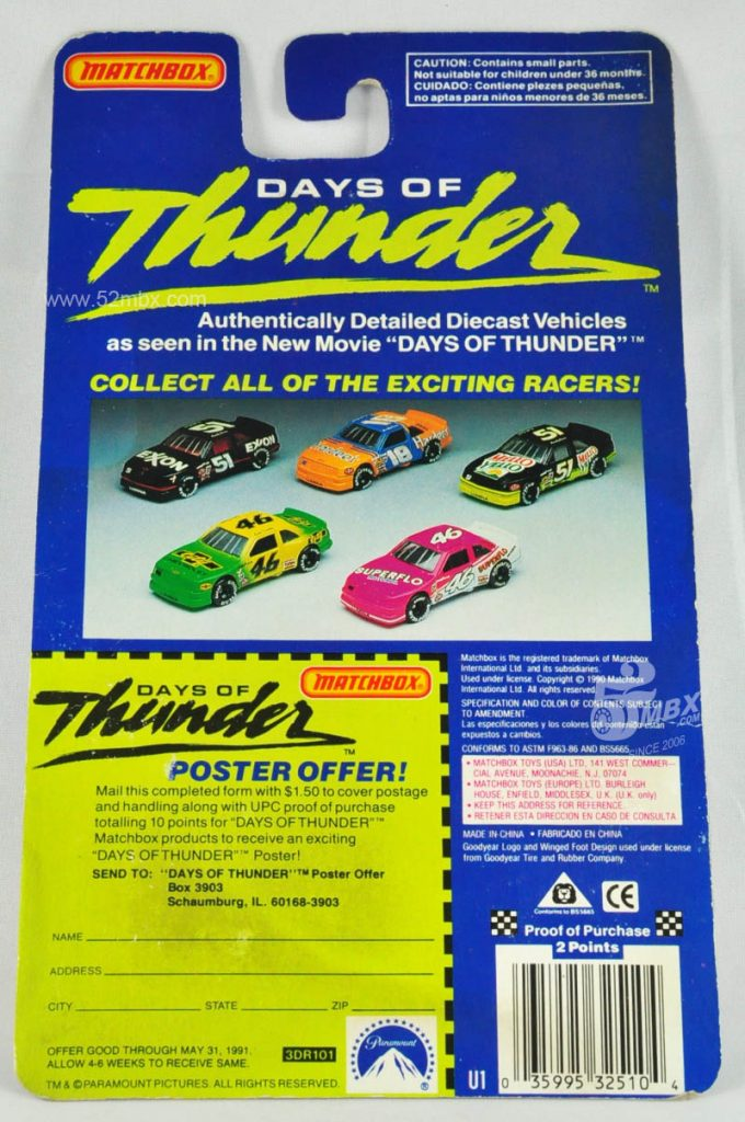 Racing Champion (Matchbox OEM), backside, picture by chenly75