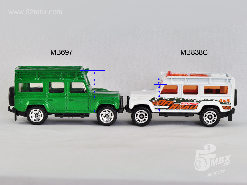 MB697 (left) vs. MB838C (right), picture by chenly75.